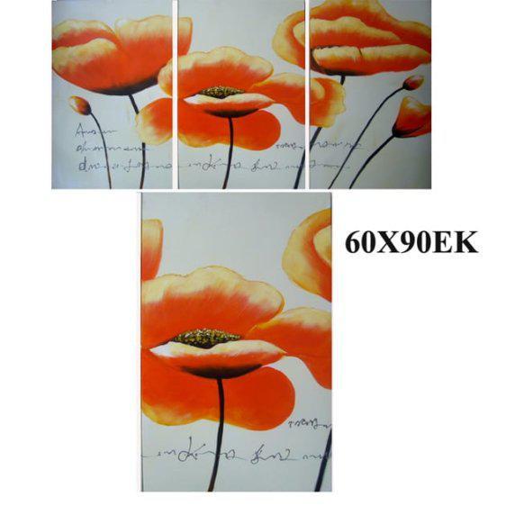 """Πίνακας ζωγραφικής """"Πορτοκαλί Λουλούδι"""" Mar-15-00-13228"""