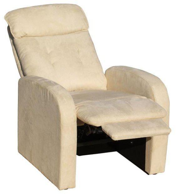 Πολυθρόνα relax με ανάκλιση και υποπόδιο σε μπεζ χρώμα sar-132502