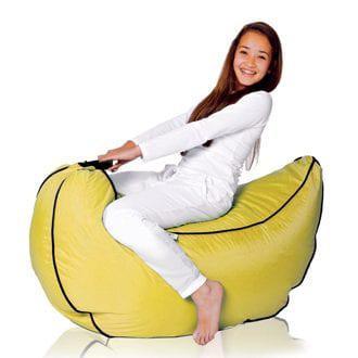 Πουφ σε σχέδιο μπανάνα για το παιδικό δωμάτιο