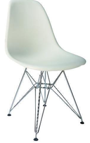 Καρέκλα με μεταλικό σκελετό αράχνη και πλαστικό κάθισμα R-Spring