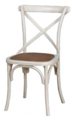 Καρέκλα παραδοσιακή με σχέδιο χ στην πλάτη 135025