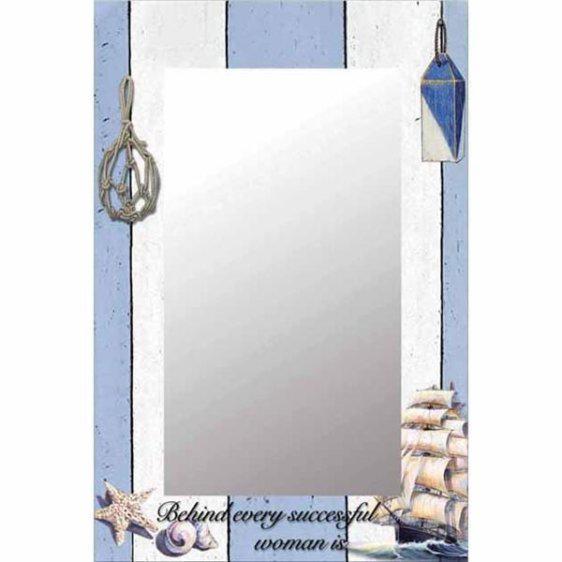 Γυάλινος καθρέφτης με κοχύλια 15-00-14135