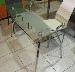 Σταθερό Τραπέζι Κουζίναs Γυαλί K-140182, Διαστάσεις:70x120