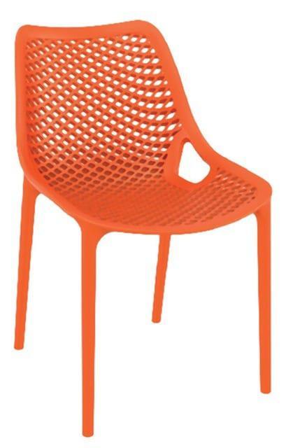 Καρέκλα σε πορτοκαλί απόχρωση με διάρτητη πλάτη και κάθισμα Α-220238