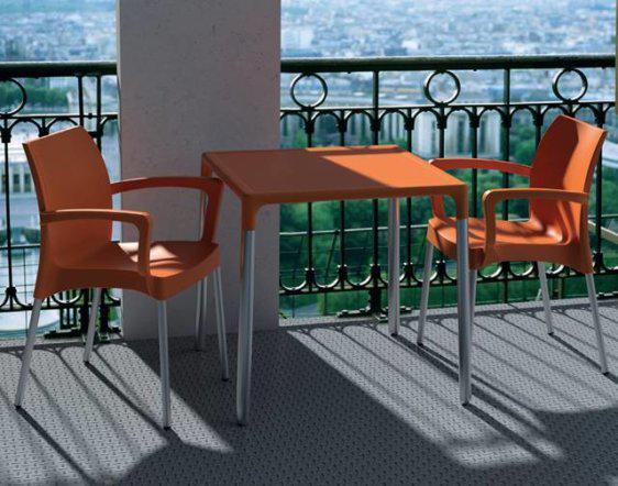 Πορτοκαλί πολυθρόνα για κήπο σε πολλά χρώματα Α-220380