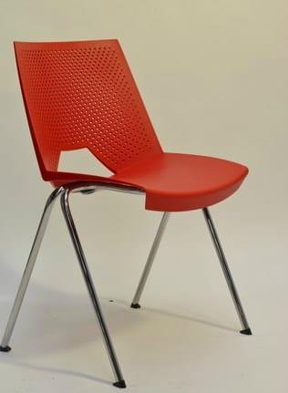Κάθισμα επισκέπτου απο πολυπροπυλένιο σε χρώματα D-SR6051A