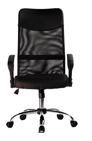 """Μαύρη καρέκλα γραφείου με """"δίχτυ"""" στην πλάτη και ανάκλιση D-NV5048 B"""