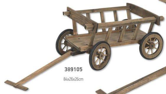 Ξύλινο κάρο με ρόδες 389105