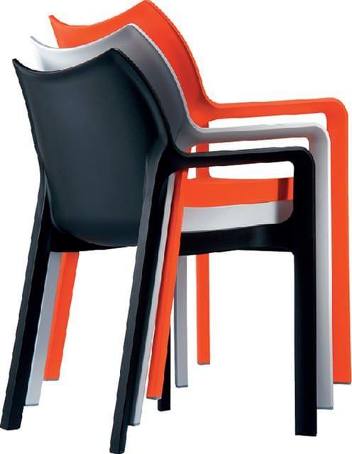 Άνετο πλαστικό κάθισμα με μπράτσα στοιβαζόμενο Α-220377