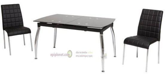 Τραπέζι Κουζίνας V-140223, Διαστάσεις:122(157)*80*75 εκ.