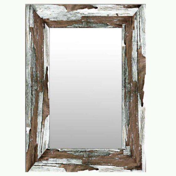 """Καθρέφτης με print """"Ξύλο"""" Mar-14113"""
