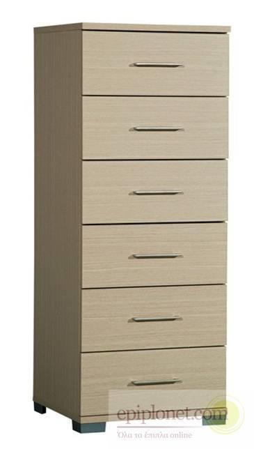 Συρταριέρα με 6 συρτάρια 45*45*115 εκ.ύψος Α-270251