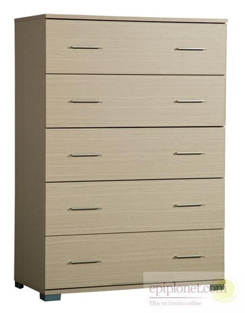 Συρταριέρα με 5 συρτάρια 60*45*97 εκ.ύψος Α-270256
