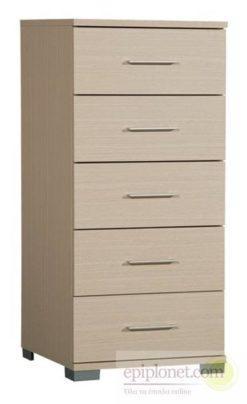 Συρταριέρα με 5 συρτάρια 60*45*127 εκ.ύψος Α-270250