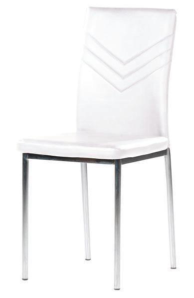 Καρέκλα με πόδια χρώμιο με άσπρη ή μαύρη δερματίνη Κ-2219
