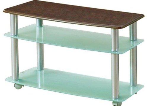 95*38 εκ τραπεζάκι TV από γυαλί μέταλλο και ξύλο Κ-128500
