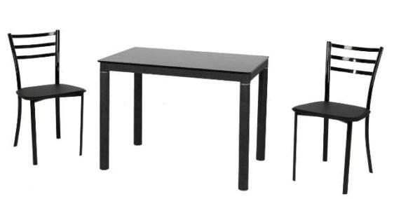 Τραπέζι κουζίνας γυάλινο με σχέδιο λουλούδι V-140222