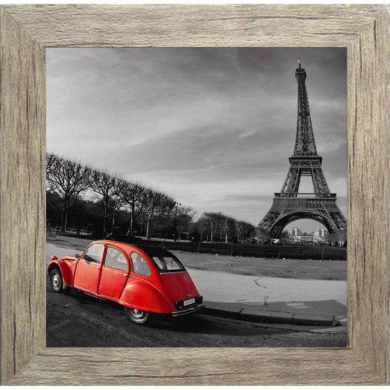 Πίνακας ζωγραφικής με κόκκινο αυτοκίνητο σε κάδρο 35Χ35εκ. Μ-14711