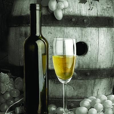 Πίνακας ζωγραφικής με λευκό κρασί 40Χ40εκ. Μ-14659