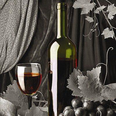 Πίνακας ζωγραφικής με κόκκινο κρασί 40Χ40εκ. Μ-14660