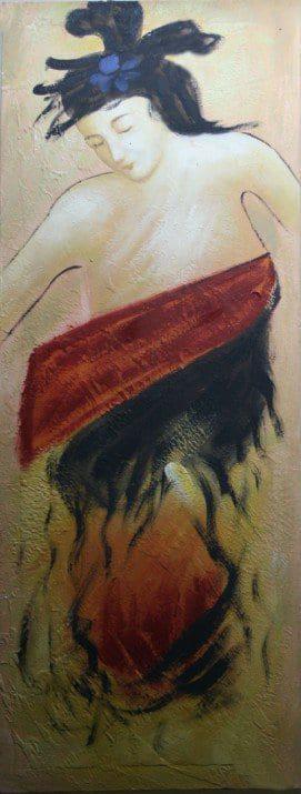 Πίνακας ζωγραφικής με Γυναίκα 30Χ80ΕΚ Μ-BD6B357-1