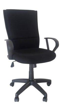 Καρέκλα Γραφείου Υφασμάτινη Μαύρη Με Ανάκλιση A-080337