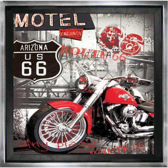 Πίνακας με κόκκινη μηχανή 50Χ50εκ. Μ-14702