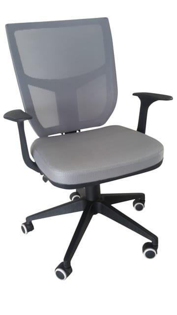 Γκρι καρέκλα γραφείου με ανάκλιση στην πλάτη A-080332