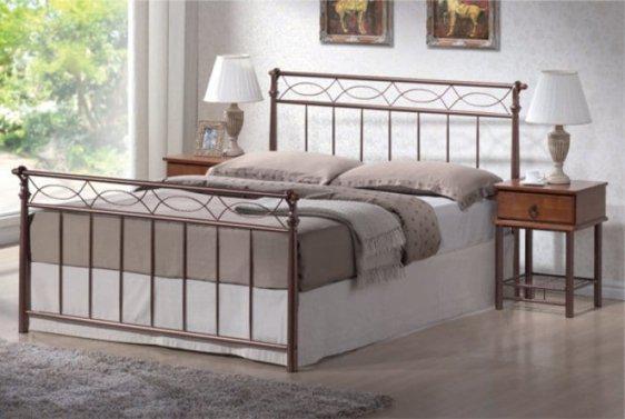 Κρεβάτι Ημίδιπλο Μεταλλικό με Ξύλο Sar-272470
