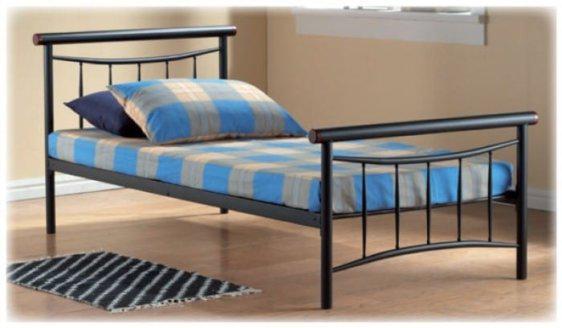 Κρεβάτι Μονό Μεταλλικό με Ξύλο Sar-231470