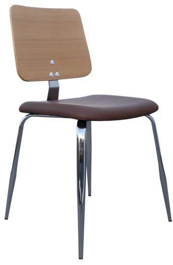 Καρέκλα κουζίνας από μέταλλο και ξύλο MC-531