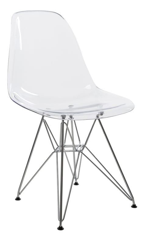 Καρέκλα κουζίνας με πλαστικό κάθισμα και σκελετό χρωμίου