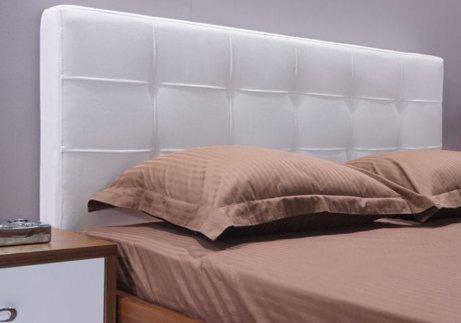 Καρυδιά κρεβατοκάμαρα με τεχνόδερμα στο κεφαλάρι X-050315