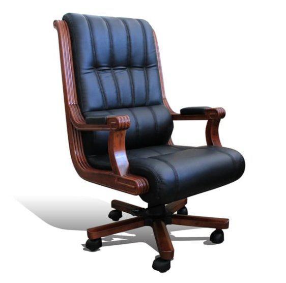 Προεδρική ξύλινη πολυθρόνα γραφείου G-080347