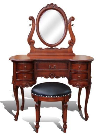 Τoυαλέτα-μπουντουάρ με καθρέπτη και σκαμπό G-370161