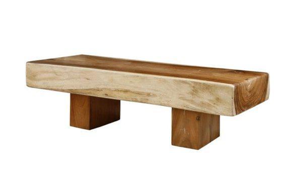 150*70 εκ τραπέζι σαλονιού χαμηλό από κορμό δέντρου J-146514