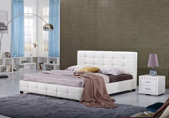 Κρεβάτι με Καπιτονέ Κεφαλάρι από Τεχνόδερμα V-050461