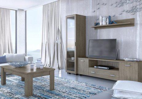 Μεγάλη Σύνθεση για την Τηλεόραση με Βιτρίνα και 1 Ράφι S-130020