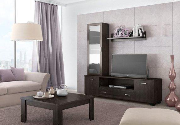 Σύνθετο TV για το σαλόνι με μία μικρή βιτρίνα S-130021