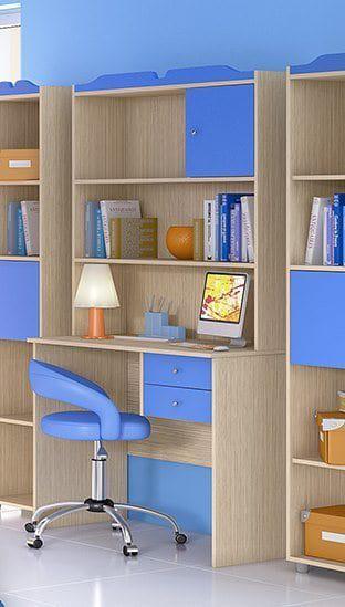 Γραφείο για το παιδικό δωμάτιο με εταζέρα S-271045