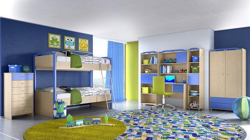 Παιδική Κουκέτα με ντουλάπα και πλήρες σετ γραφείου S-280023 ... 4f2a28a7e85