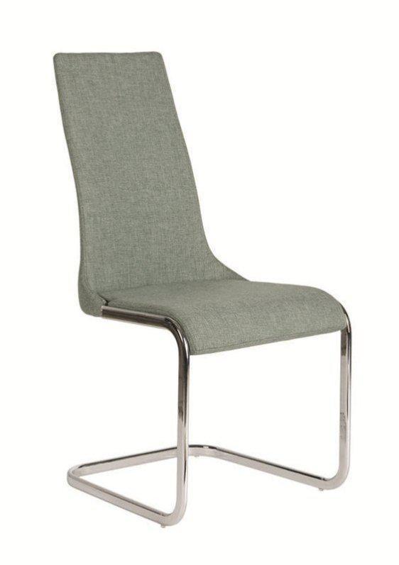 Καρέκλα με ανθρακί ύφασμα και S σκελετό K-190358