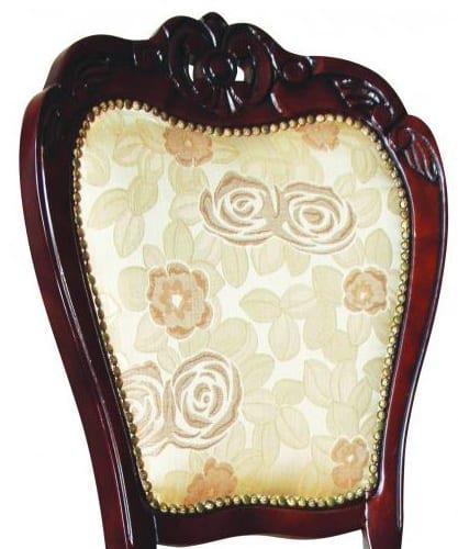 Κλασσική καρέκλα με κεντητή στόφα G-135071
