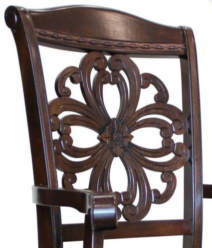 Ξύλινη Πολυθρόνα με δερμάτινο κάθισμα G-135075