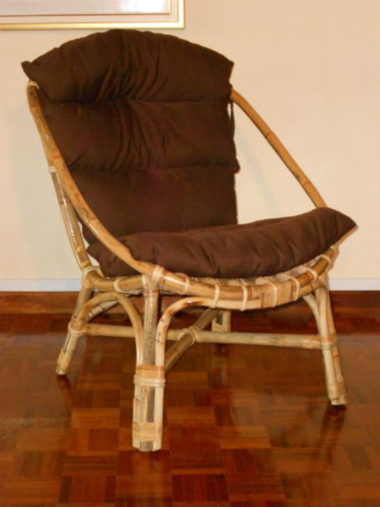 Αναπαυτική Πολυθρόνα Από Bamboo Ε-225001