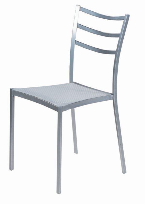 Γκρι σκελετός με πλαστικό κάθισμα Κ-190356