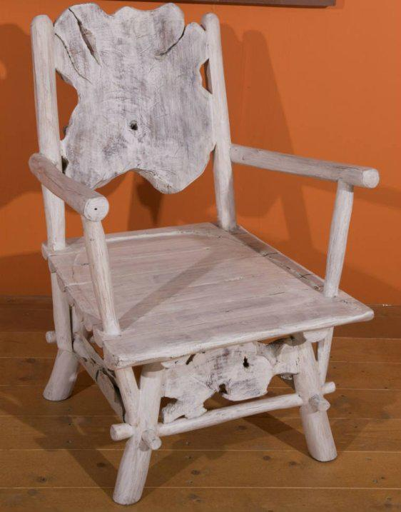 Καρέκλα Παλαιολιθικής Εποχής Από Ρίζα Teak  Ε-227009