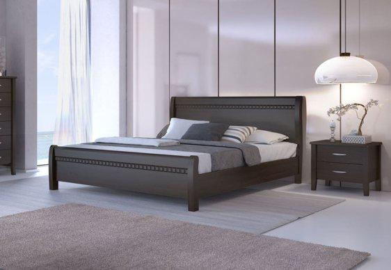 Κρεβάτι διπλό απο ξύλο οξιάς με σχέδιο Ν16Α