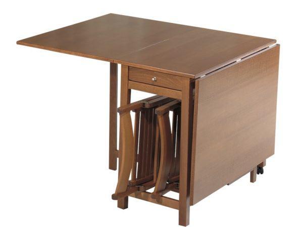 Τραπέζι με σπαστά φύλλα και ενσωματωμένες 4 καρέκλες Ko-147531