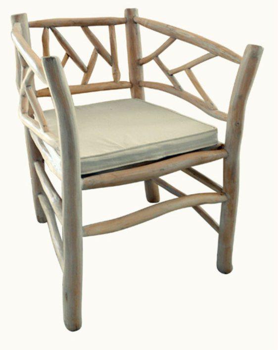 Καρέκλα Πολυθρόνα Από Μασίφ Ξύλο Teak Ε-227007